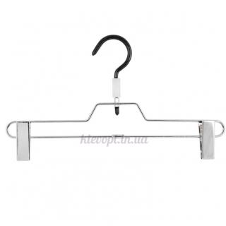 Брючные вешалки плечики с прищепками металлические, 34 см