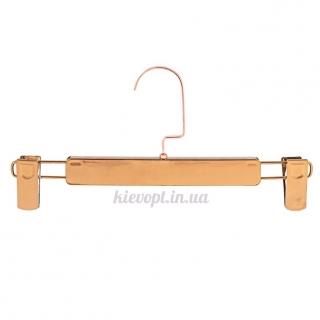 Брючные вешалки тремпеля с прищепками бронзовые, 32 см
