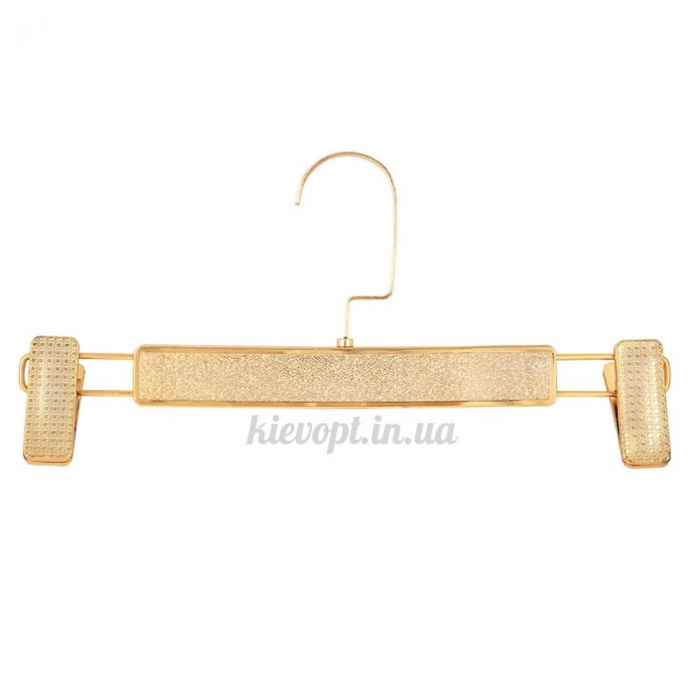 Брючные вешалки тремпеля с прищепками золото, 32 см