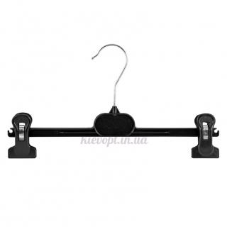 Брючные вешалки плечики с прищепками пластиковые, 36 см (06-01-02)