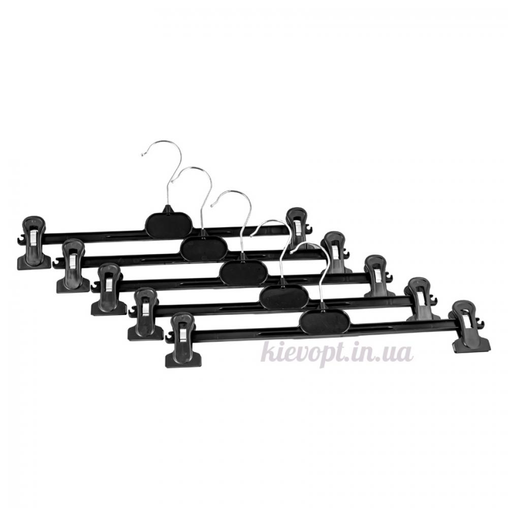 Брючные вешалки плечики с прищепками пластиковые, 30 см (06-01-03)