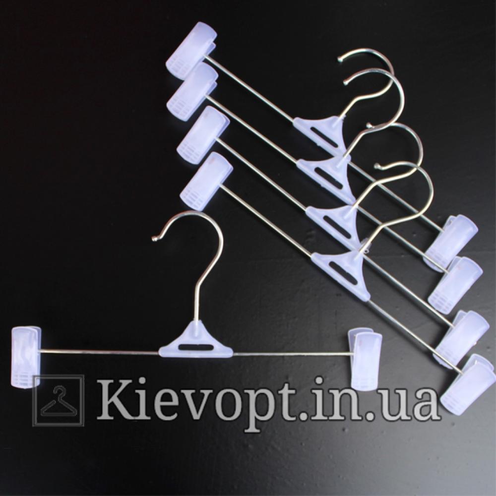 Детские плечики вешалки с прищепками для одежды белые, 25 см
