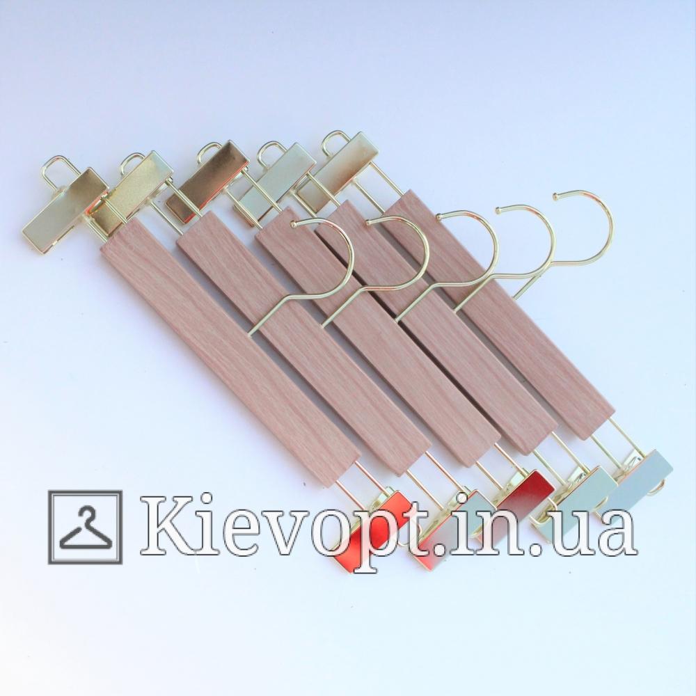 Плечики вешалки акриловые брючные с прищепками, 35 см (06-05-07)