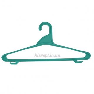 Вешалки плечики пластиковые для верхней одежды зеленый металлик, 44 см
