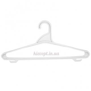 Вешалки плечики пластиковые для верхней одежды белые, 44 см