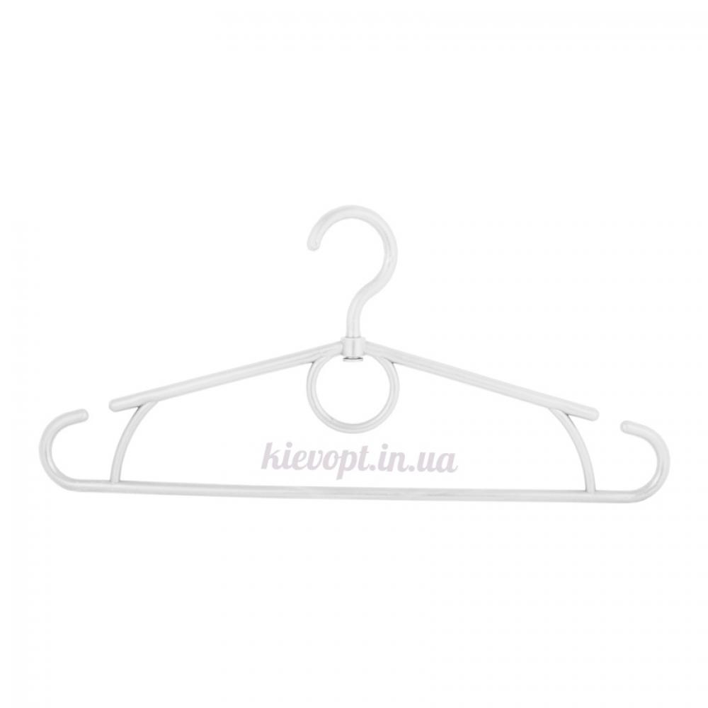 Вешалки плечики усиленные пластиковые белые, 42 см