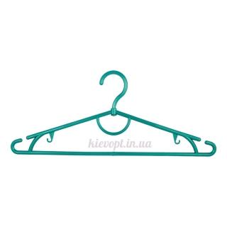Вешалки плечики пластиковые для одежды зеленый металлик, 42 см