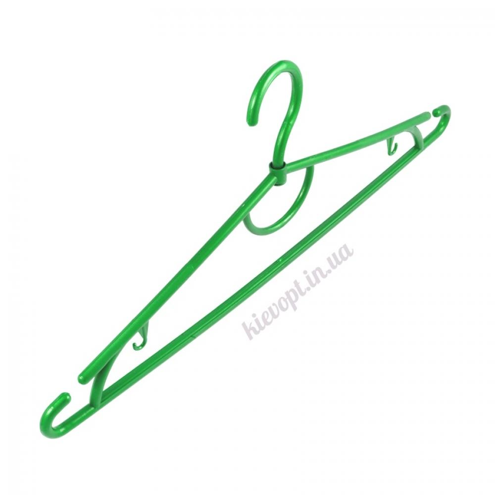Вешалки плечики пластиковые для одежды салатовые, 42 см