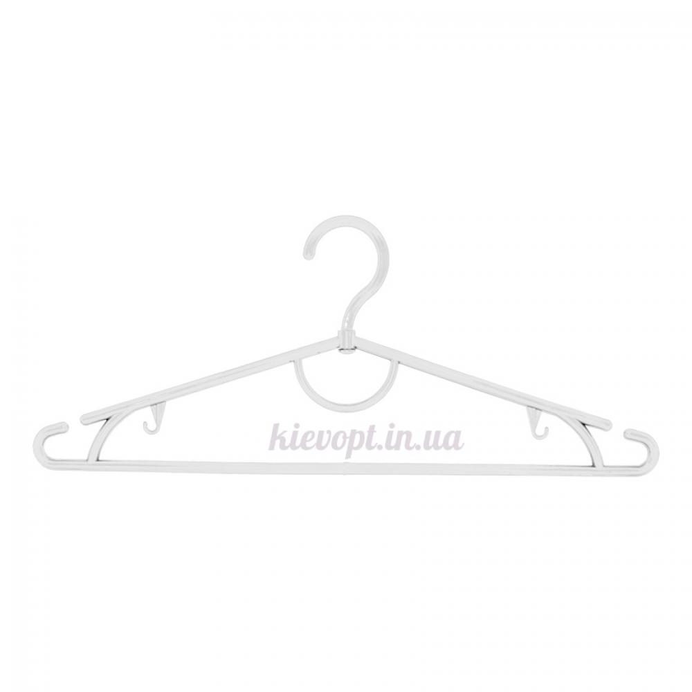 Вешалки плечики пластиковые для одежды белые, 42 см, 10 шт
