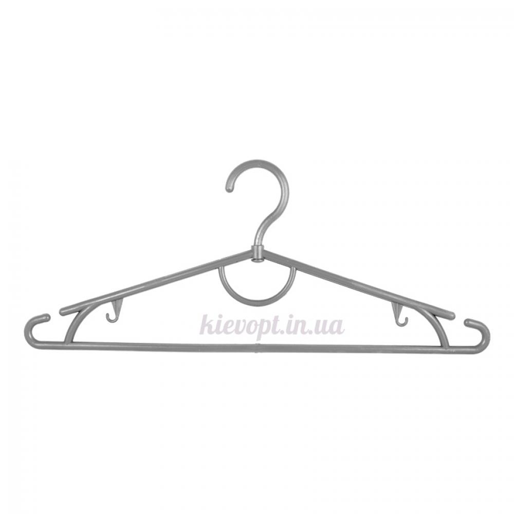 Вешалки плечики пластиковые для одежды серебро, 42 см