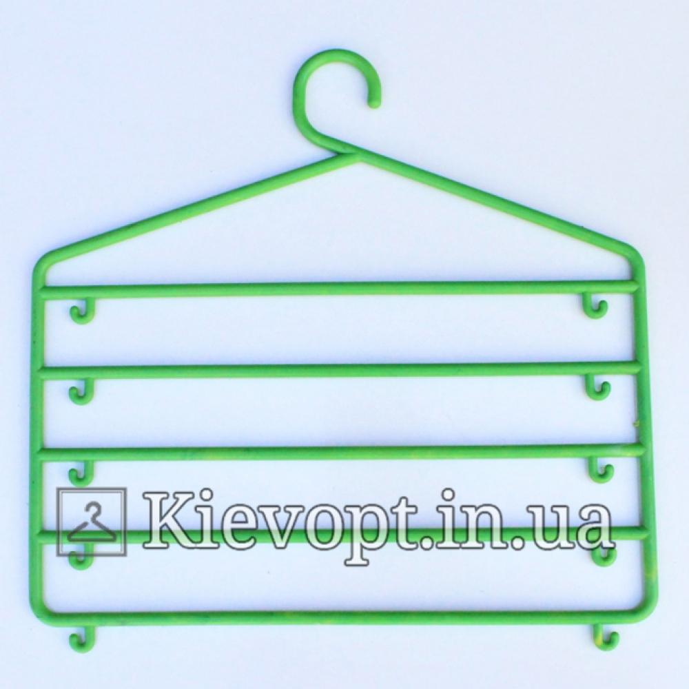 Вешалка органайзер многоярусная для одежды салатовая