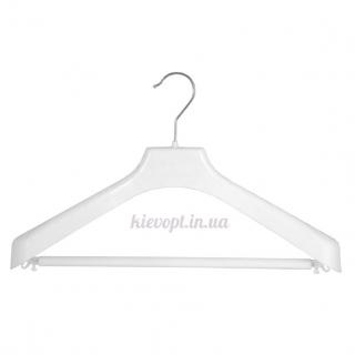Вешалки плечики для верхней одежды, трикотажа с перекладиной белые, 38 см