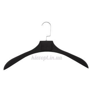 Вешалки плечики для верхней одежды, курток, шуб с покрытием soft touch, 46 см