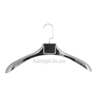 Вешалки плечики для верхней одежды, шуб, пальто широкие серебрянные, 45 см