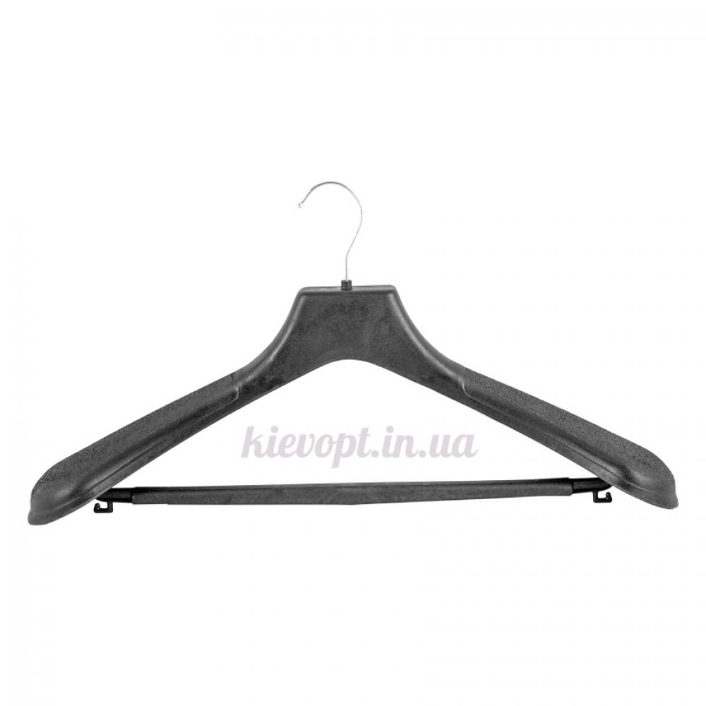Вешалки плечики для верхней одежды широкие с перекладиной, 48 см