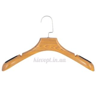 Вешалки плечики для верхней одежды со структурой дерева, 43 см