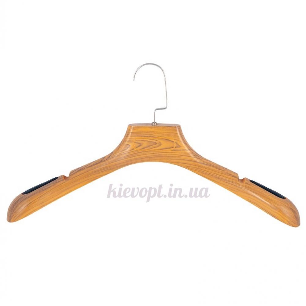 Вешалки плечики для верхней одежды со структурой дерева, 40 см