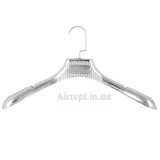Вешалки плечики для верхней одежды, шуб, пальто серебро, 39 см