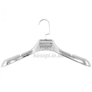 Вешалки плечики для верхней одежды, шуб, пальто серебрянные, 46 см
