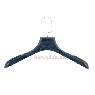 Вешалки плечики для верхней одежды со структурой дерева синие, 40 см