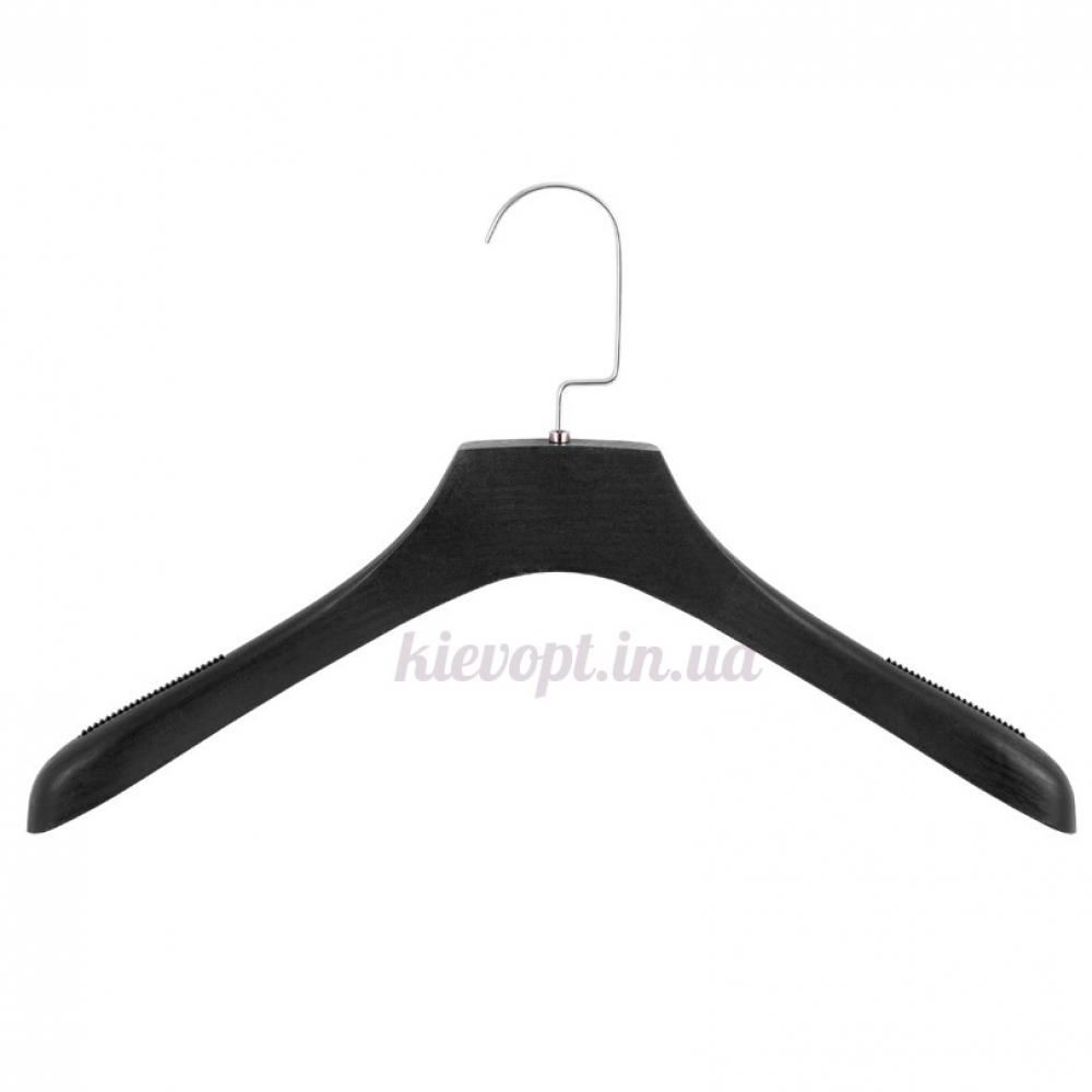 Вешалки плечики для верхней одежды антискользящие со структурой дерева, 39 см