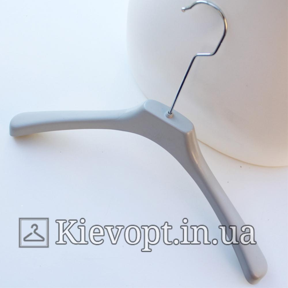 Вешалки плечики для верхней одежды серые, 41 см (05-02-66)