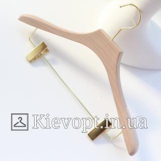 Плечики вешалки акриловые для костюмов с прищепками, 44 см (05-05-43)
