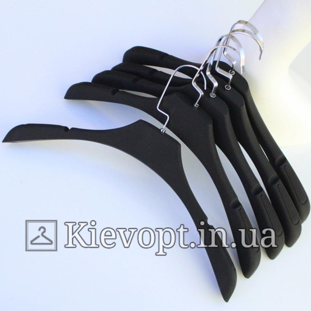 Вешалки плечики для верхней одежды и трикотажа soft-touch, 41 см (05-05-17)